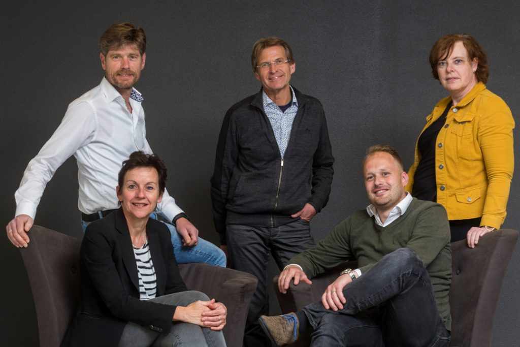 Projectteam Oost Gelre Achterhoek Onderneemt Duurzaam, Laurens Grashof, Herman van der Heijden, Eveline Zuurbier, Grea Wolters, Ivo Thuinte